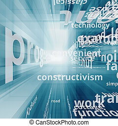 Global communication. Text concept image