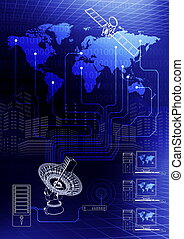 Global Communication - How computer connected via satellite...