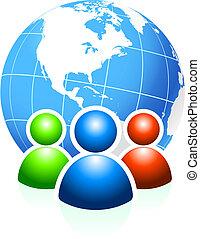 Global Communication Original Vector Illustration Ideal for...