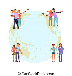 Global communications concept. Social network and teamwork ...