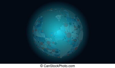 Global communications through the network of connections. ...