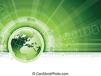 Vector illustration of global network or communication concept.