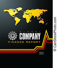 Global Company Finance Report Cover