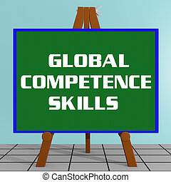 GLOBAL COMPETENCE SKILLS concept