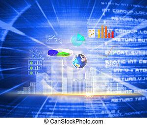 global, composite, technologie, fond, image