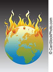 global, concept, chauffage