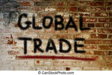 global, concept, commercer