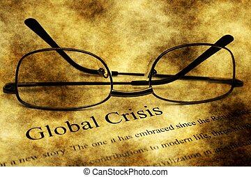 global, concept, grunge, crise