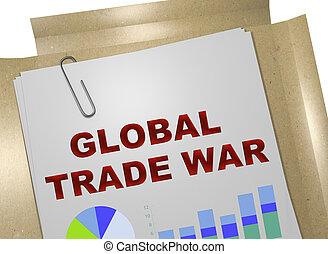 global, concept, guerre, commercer