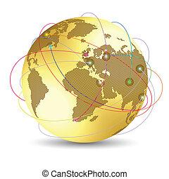 global, concept, internet