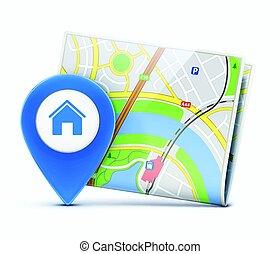 global, concept, navigation