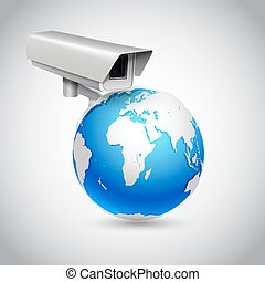 global, concept, surveillance