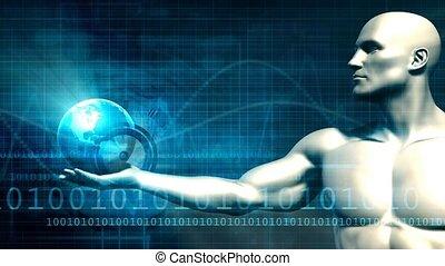 global, concept, technologie, numérique