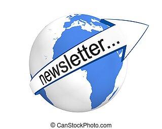 global, concepto, newsletter