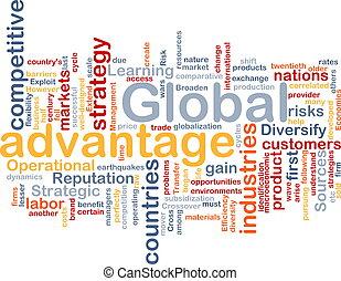global, concepto, ventaja, plano de fondo