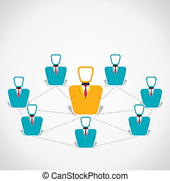 global connection of people stock vector