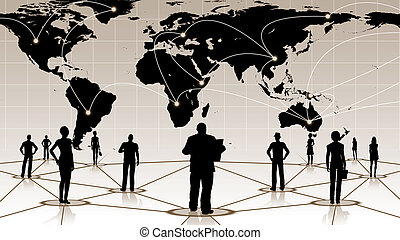 global connection of the people social business network