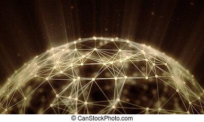 global, connections., réseau