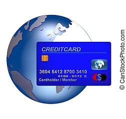 global credit card blue