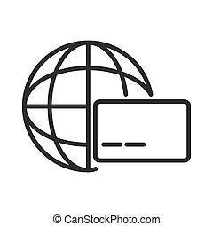 Global credit card symbol