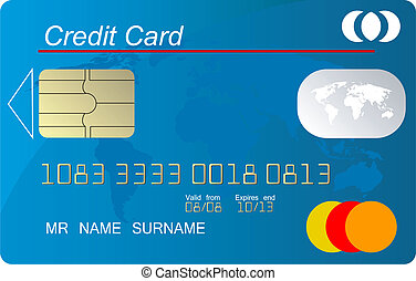 Global credit card vector