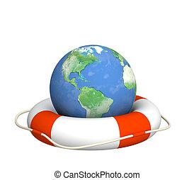 global, crise, aide