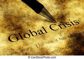 Global crisis grunge concept