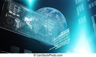 Global data and information over earth.