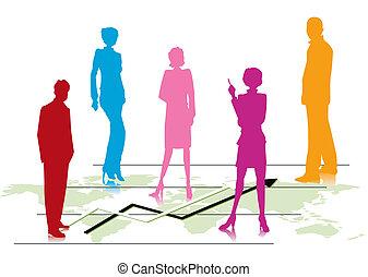 Global Data Management Team - Illustration of Business...