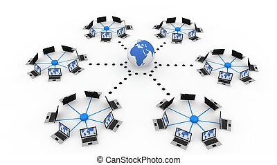 global, dator nät