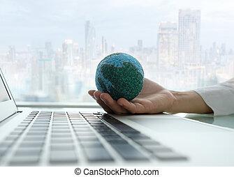 global, de, tecnología, y, empresa / negocio