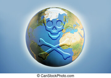 global death - skull and crossbones depicting global...