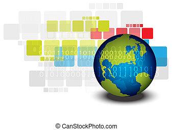 global, desenho, conceito, esquema