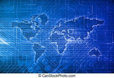 Global Digital Technology Concept