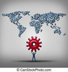 global, dirección