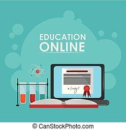global distance education cartoon vector illustration graphic design