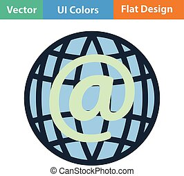 Global e-mail icon