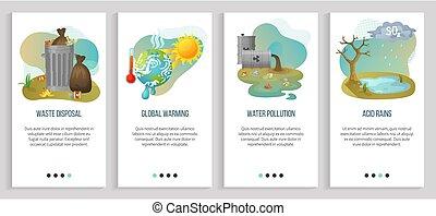 global, ecología, ácido, problemas, warming, lluvia