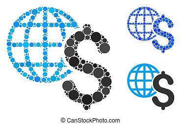 Global economics Composition Icon of Circles