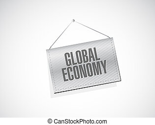 global economy banner sign concept
