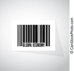 global economy barcode sign concept