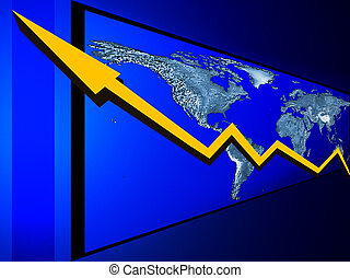 Global Economy - Conceptual view of global economy and world...