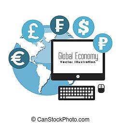 global economy design - global ecomomy design, vector...
