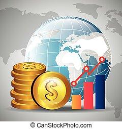 Global economy design, - Global economy money design, vector...