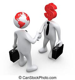 Global Economy - Computer Generated Image - Global Economy .