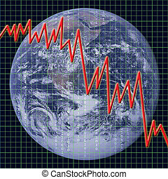 Global Economy - Graph representing the state of world...