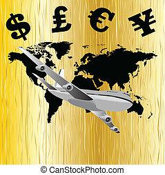 Global economy illustration