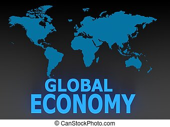 Global economy - Rendered artwork with white background