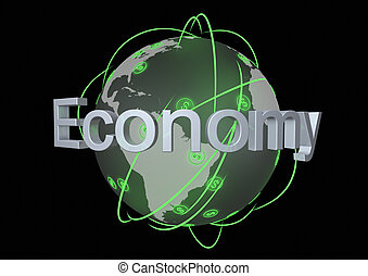 Global economy - Render of the concept of the global economy