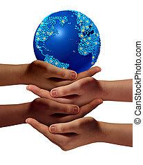 global, educación, comunidad